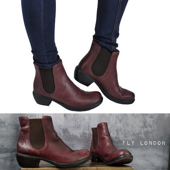 50049e4337f3 Fly London Shoes   Make Chelsea Boots In Red Leather   Poshmark